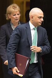 Downing Street, London, October 20th 2015.  Anna Soubry MP, Minister for Small Business, Industry and Enterprise leaves 10 Downing Street with Business Secretary Sajid Javid, after attending the weekly cabinet meeting.