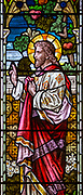 Stained glass window Weybread church, Suffolk, c 1884 W G Taylor 'Where I am there shall also my servant be'