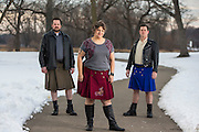 Jeanie Davan and her altkilt.com clothing line. (Photo © Andy Manis)
