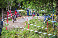 Jack Moir steps on the gas during his race run at the UCI Mountain Bike World Cup in Fort William.