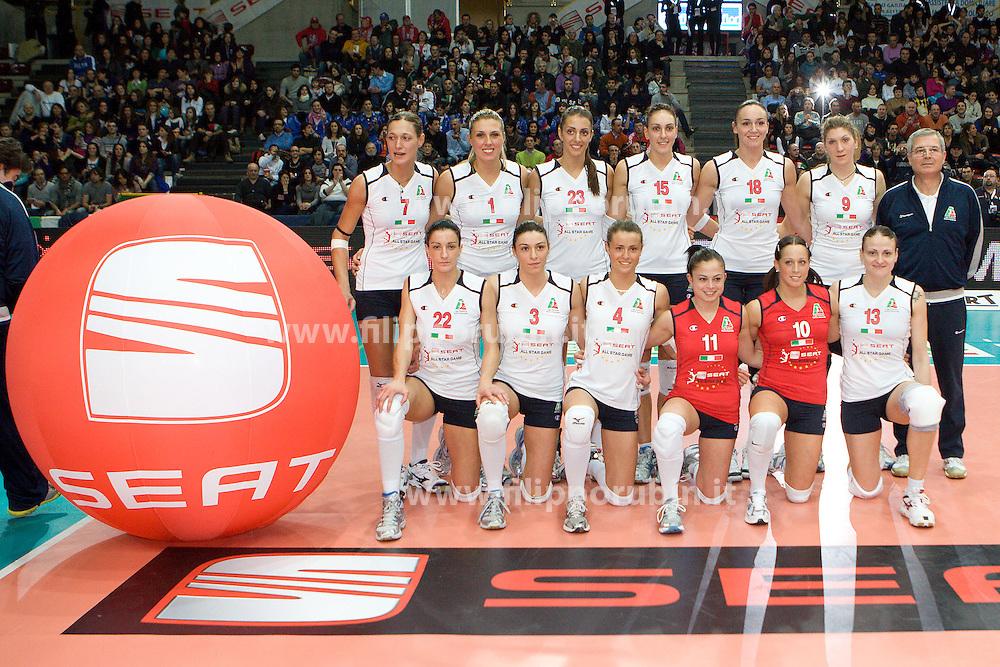 SELEZIONE ITALIANA - SEAT ALL STAR TEAM.ALL STAR GAME 2010 .VERONA 25-01-2010.FOTO FILIPPO RUBIN / LVF