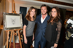 Left to right, LUCY PERFECT and BEN & ELLE CARING at A Date With Your Dog At George in aid of the Dogs Trust held at George, 87-88 Mount Street, London on 9th September 2014.