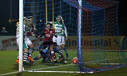 Rosella Ayane of Bristol City Women scores the opening goal - Mandatory by-line: Robbie Stephenson/JMP - Mobile: 07966 386802 - 23/03/2016 - FOOTBALL - Stoke Gifford Stadium - Bristol, England - Bristol City Women v Yeovil Town Ladies - FA Women's Super League 2