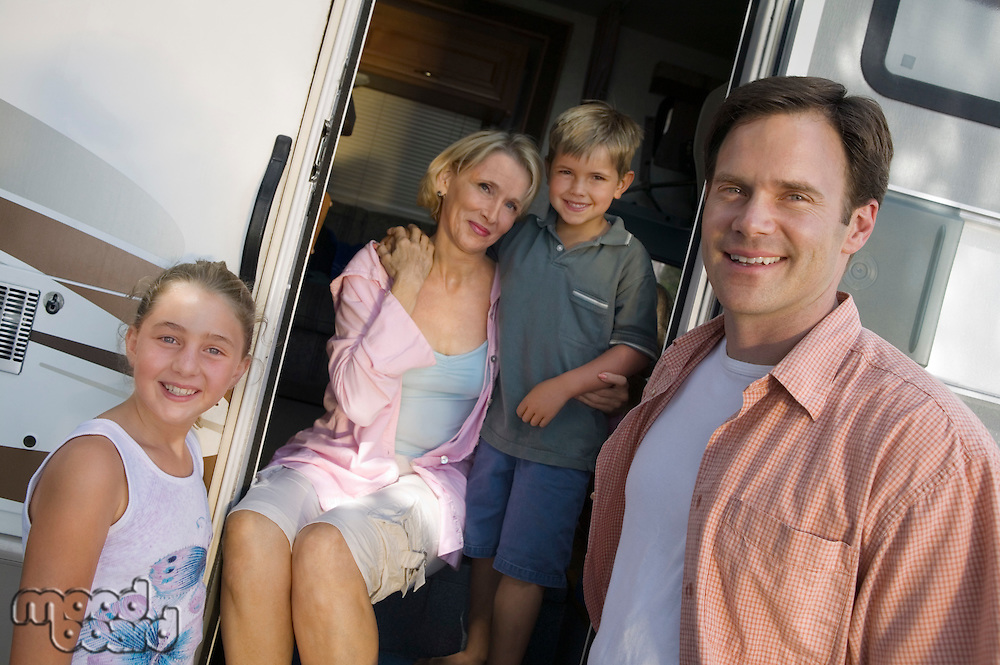 Family on Vacation in RV