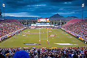 Scene from Round 5 of the HSBC World Rugby Sevens Series 2015-16, 4-6 March 2016, Sam Boyd Stadium, Las Vegas, USA.