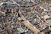 Nederland, Groningen, Groningen, 01-05-2013; Groningen-stad, centrum. Vismarkt met  De Korenbeurs, Akerkhof met der Aa-kerk. Links winkelcentrum Westerhaven.<br /> View the city of Groningen, old town. <br /> luchtfoto (toeslag op standard tarieven)<br /> aerial photo (additional fee required)<br /> copyright foto/photo Siebe Swart