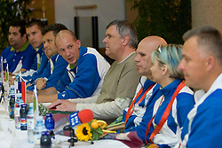 Welcome press conference for paraolympic sportsmen at Airport Joze Pucnik, on September 20, 2008, in Brnik, Slovenia. (Photo by Vid Ponikvar / Sportal Images)./ Sportida)