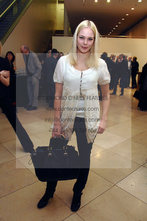 Model ANNABELLE HORSEY at a private view of Bryan Adam's photographs entitled 'Modern Muses' held at The National Portrait Gallery, London on 11th March 2008.<br />
