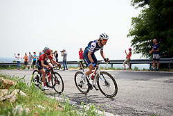 Tayler Wiles (USA) attacks on the climb to the first passage of the finish line during Stage 7 of 2019 Giro Rosa Iccrea, a 128.3 km road race from Cornedo Vicentino to San Giorgio di Perlena, Italy on July 11, 2019. Photo by Sean Robinson/velofocus.com