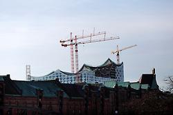 GERMANY HAMBURG 30DEC13 - Elbphilharmonie building site dominates the skyline of Hamburg's Hafen City.<br /> <br /> <br /> <br /> jre/Photo by Jiri Rezac<br /> <br /> <br /> <br /> © Jiri Rezac 2013