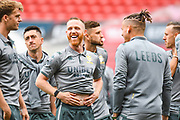 Adam Forshaw of Leeds United (4) arrives at the ground during the EFL Sky Bet Championship match between Bristol City and Leeds United at Ashton Gate, Bristol, England on 4 August 2019.