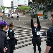 Seattle Sports Commission 5th Annual Seattle Urban Trek. Marines workout at the Harbor Steps. Photo by Alabastro Photography.