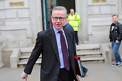 © Licensed to London News Pictures. 22/03/2019. London, UK. Michael Gove MP leaves the Cabinet Office. The EU27 have agreed to Prime Minister Theresa May's request for a short extension to the deadline for leaving the European Union, offering two new deadlines depending on whether she is able to pass her deal next week. Photo credit: Rob Pinney/LNP