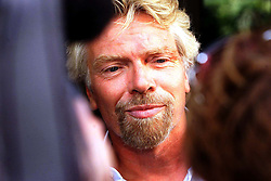 Sir Richard Branson outside the Lottery Commission after a meeting with them, September 2, 2000. Photo by Andrew Parsons / i-Images..