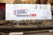 Revolutionary sign in Baracoa, Guantanamo, Cuba.