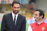 Robert PIRES / Ludovic GIULY  - 22.04.2015 - Monaco / Juventus Turin - 1/4Finale retour Champions League<br />Photo : Serge Haouzi / Icon Sport
