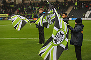 Flagbearers during the The FA Cup match between Forest Green Rovers and Billericay Town at the New Lawn, Forest Green, United Kingdom on 9 November 2019.