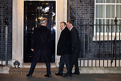 © Licensed to London News Pictures. 07/01/2019. London, UK. Deputy Leader of the Democratic Unionist Party (DUP) Nigel Dodds (centre) arriving in Downing Street to attend a drinks reception in Number 10. British Prime Minister Theresa May is currently trying to persuade MPs to back her Brexit withdrawal deal. MPs will be debating the issue this week, with the postponed vote taking place on Tuesday 15th January. Photo credit : Tom Nicholson/LNP