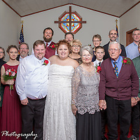 Large family group at a beautiful wedding