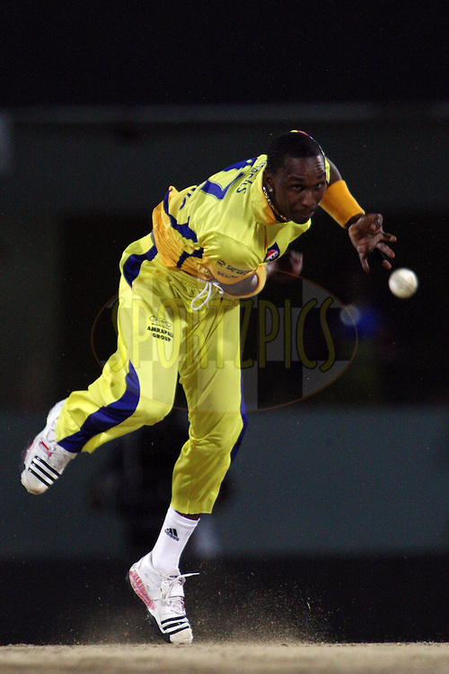 Dwayne Bravo during match 64 of the Indian Premier League ( IPL ) Season 4 between the Chennai Superkings and The Kochi Tuskers Kerala held at the MA Chidambaram Stadium in Chennai, Tamil Nadu, India on the 18th May 2011..Photo by Jacques Rossouw/BCCI/SPORTZPICS