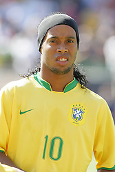 09 September 2007: Brazil's Ronaldinho, pregame. The Brazil Men's National Team defeated the United States Men's National Team 4-2 at Soldier Field in Chicago, Illinois in an international friendly labeled the Clash of Champions.