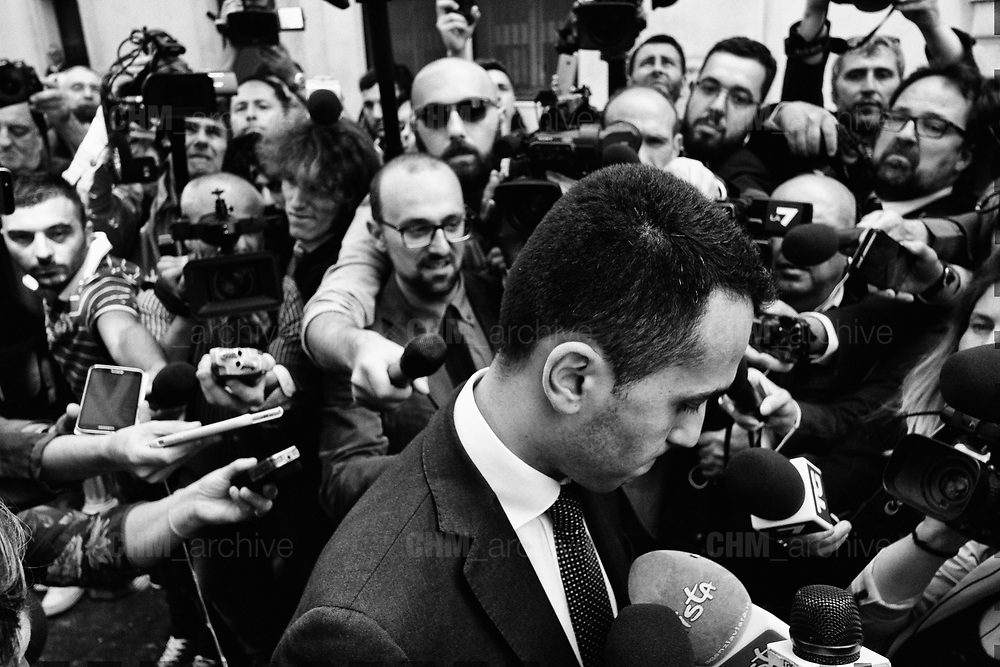 Leader of Five Stars movement, Luigi Di Maio, speaks to journalists after a new day of meetings for the formation of the new government on May 11, 2018 in Rome, Italy. Christian Mantuano / OneShot