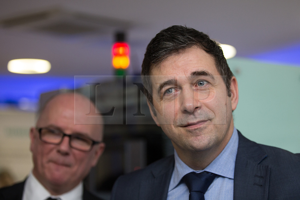 © Licensed to London News Pictures . 05/02/2016 . Manchester , UK . JUERGEN MAIER , CEO of Siemens . Labour in for Britain pro-EU campaign event at the Siemens technology campus in South Manchester . Photo credit : Joel Goodman/LNP