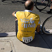 Rider resting after participating in 2009 El Tour de Tucson. Bike-tography by Martha Retallick.
