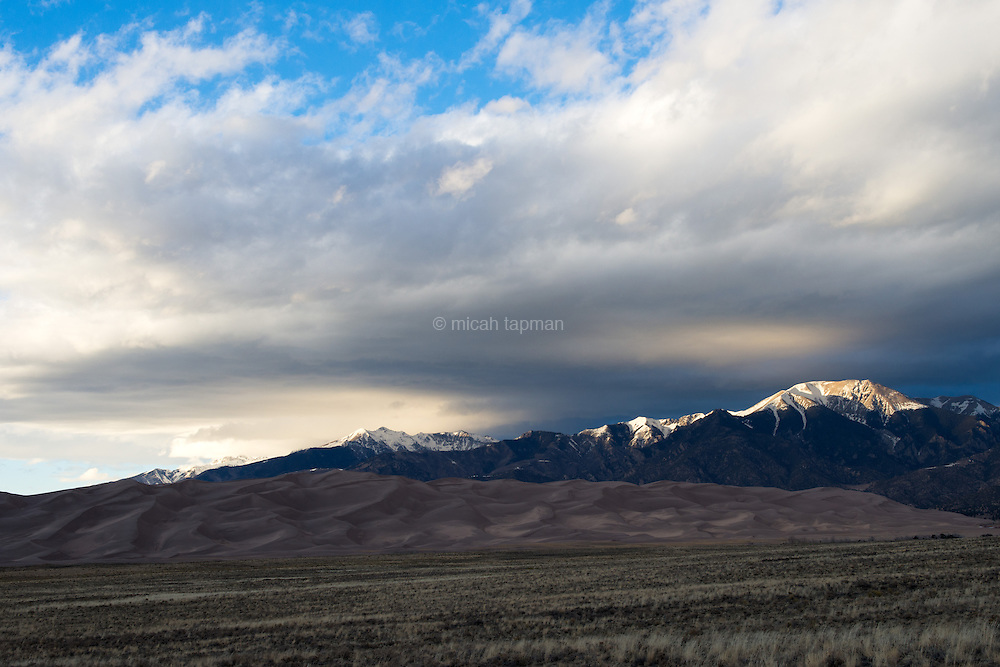 Great Sand Dunes National Park at sunset.
