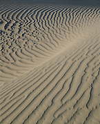 Sand patterns, sunrise, Mesquite Flat Sand Dunes, Death Valley National Park, California