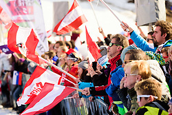 March 9, 2019 - Kranjska Gora, Kranjska Gora, Slovenia - Austrian fans cheering  at the Audi FIS Ski World Cup Vitranc on March 8, 2019 in Kranjska Gora, Slovenia. (Credit Image: © Rok Rakun/Pacific Press via ZUMA Wire)