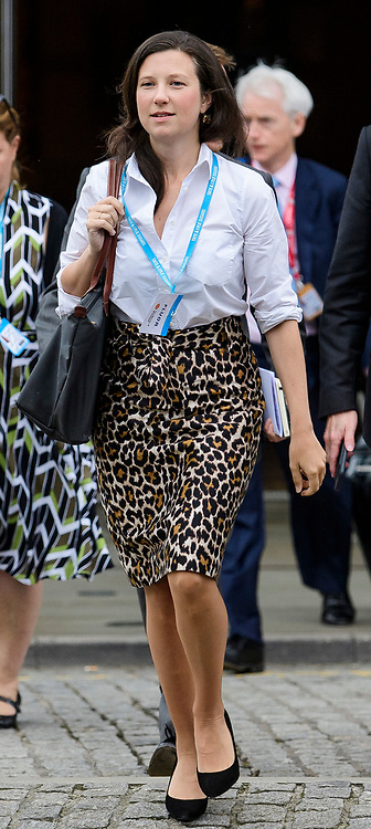 © Licensed to London News Pictures. 04/10/2017. Manchester, UK. JONNNA PENN deputy chief of staff to Theresa May at Conservative Party Conference. The four day event is expected to focus heavily on Brexit, with the British prime minister hoping to dampen rumours of a leadership challenge. Photo credit: Ben Cawthra/LNP