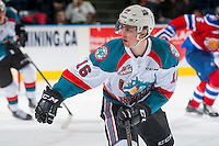 KELOWNA, CANADA - FEBRUARY 22: Kole Lind #16 of the Kelowna Rockets skates against the Edmonton Oil Kings on February 22, 2017 at Prospera Place in Kelowna, British Columbia, Canada.  (Photo by Marissa Baecker/Shoot the Breeze)  *** Local Caption ***