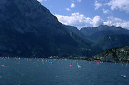 Windsurfers on Lake Garda at Riva del Garda, Trentino Alto Adige, Italy....travel, lifestyle