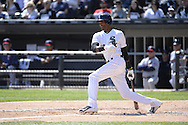 CHICAGO - APRIL 11:  Alexei Ramirez #10 of the Chicago White Sox bats against the Minnesota Twins on April 11, 2015 at U.S. Cellular Field in Chicago, Illinois.  (Photo by Ron Vesely)   Subject:   Alexei Ramirez