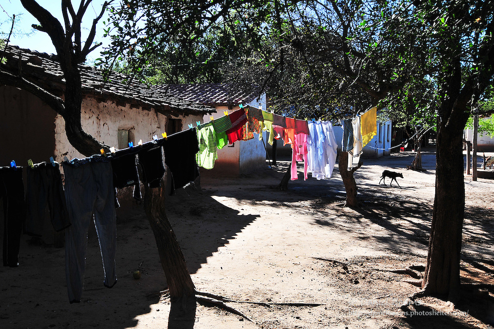 Clothes on the line in Yapiroa, Charagua, Santa Cruz, Bolivia