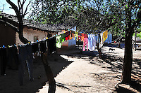 Clothes on the line in Yapiroa, Charagua, Santa Cruz, Bolivia