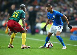 November 20, 2018 - Milton Keynes, United Kingdom - Richarlison of Brazil .during Chevrolet Brazil Global Tour International Friendly between Brazil and Cameroon at Stadiummk stadium , MK Dons Football Club, England on 20 Nov 2018. (Credit Image: © Action Foto Sport/NurPhoto via ZUMA Press)