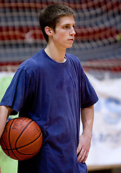 Uros Zadnik at practice of KK Slovan basketball team, on February 3, 2010 in Arena Kodeljevo, Ljubljana, Slovenia.  (Photo by Vid Ponikvar / Sportida)