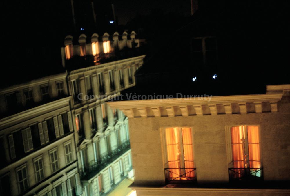 Facade de immeubles parisiens, 1er arrondissement, France