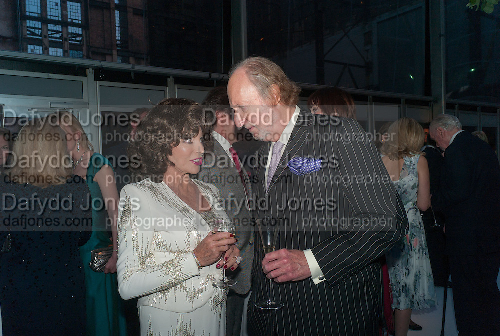 JOAN COLLINS; ED VICTOR, CARTIER CHELSEA FLOWER SHOW DINNER Dinner hosted by Cartier in celebration of the Chelsea Flower Show was held at Battersea Power Station. 22 May 2012