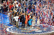 President George W. Bush and his wife Laura are seen with their family and the Cheney's after Bush accepts the Presidential nomination at the Republican National Convention in Manhattan, NY. 9/2/2004