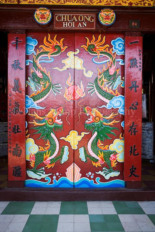door of chinese temple in Hoi An , Vietnam
