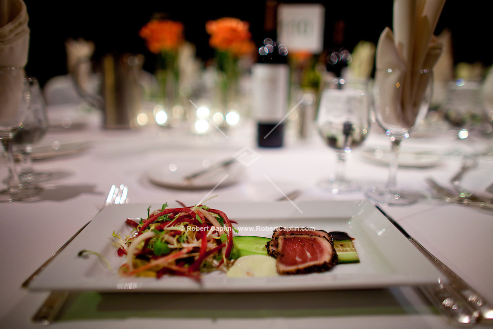 The duck appetizer at the 37th International Emmy Awards Gala in New York on Monday, November 23, 2009.  ***EXCLUSIVE***