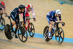 January 26, 2019 - Hong Kong, Hong Kong SAR, China - Mens Omnium IV. Australias Cameron Meyers takes gold with New Zealands Campbell Stewart taking Silver (L)and France's Benjamin Thomas (pictured R))  takes silver.UCI Track Cycling World Cup Hong Kong 2019, Qualifiers Leg VI at the Hong Kong Velodrome in Tseung Kwan O ,Kowloon (Credit Image: © Jayne Russell/ZUMA Wire)