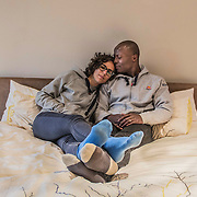 Nick and Anne, Johannesburg, June 2015<br /> Nick was born in DRC and moved to South Africa in 1992. Anne is French, she has been in the country for six and a half years. They met after she was offered the opportunity to work in South Africa. When he knew that his son would marry a white woman, Nick&rsquo;s father had difficulties accepting it. But other members of his family were very supportive. Anne&rsquo;s  parents strongly opposed to the relationship at the beginning, mainly  because of the preconceived ideas they had about African immigrants in France. But after meeting him, they accepted it. Anne and Nick admit that people in South Africa still have difficulties imagining that they are together when they walk in the street and often Nick is assimilated to a Black guy who is harassing a white woman, especially when venturing out of Johannesburg.