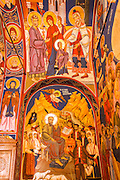 Frescos in the abbey chapel, Krka Monastery, Krka National Park, Dalmatia, Croatia