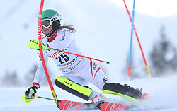 28.01.2018, Lenzerheide, SUI, FIS Weltcup Ski Alpin, Lenzerheide, Slalom, Damen, 1. Lauf, im Bild Katharina Liensberger (AUT) // Katharina Liensberger of Austria in action during her 1st run of ladie's Slalom of FIS ski alpine world cup in Lenzerheide, Austria on 2018/01/28. EXPA Pictures © 2018, PhotoCredit: EXPA/ Sammy Minkoff<br /> <br /> *****ATTENTION - OUT of GER*****