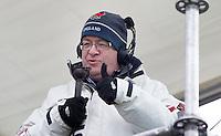 BLOEMENDAAL - TV commentator Nick Invine. Euro Hockey League 2015 . COPYRIGHT KOEN SUYK