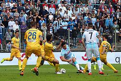 """Foto Filippo Rubin<br /> 26/03/2017 Ferrara (Italia)<br /> Sport Calcio<br /> Spal vs Frosinone - Campionato di calcio Serie B ConTe.it 2016/2017 - Stadio """"Paolo Mazza""""<br /> Nella foto: SERGIO FLOCCARI<br /> <br /> Photo Filippo Rubin<br /> March 26, 2017 Ferrara (Italy)<br /> Sport Soccer<br /> Spal vs Frosinone - Italian Football Championship League B ConTe.it 2016/2017 - """"Paolo Mazza"""" Stadium <br /> In the pic: SERGIO FLOCCARI"""